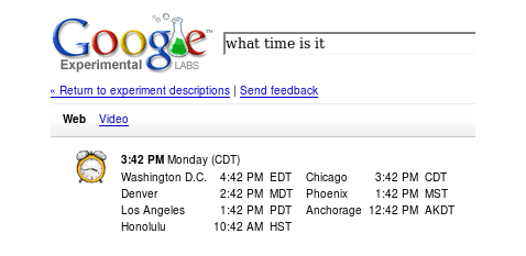 Check Local Times with Google