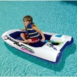 Dubiously Named Inflatable 'Speed' Boat Navigates Pools At Blistering 2MPH