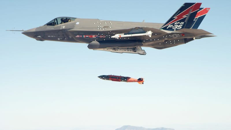 F-35A Stealth Fighter Drops Its First Bomb
