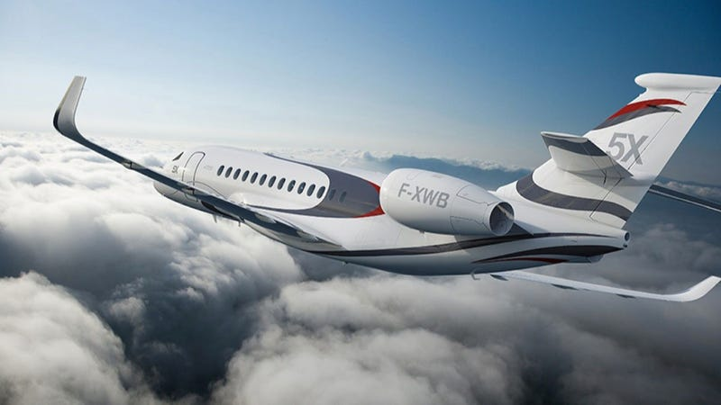 The Falcon X Is A Fancy Private Jet Designed With A Freaking Skylight