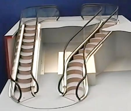 The Levytator Is A Curvy, Twisty, Bendy, Free-Forming Escalator
