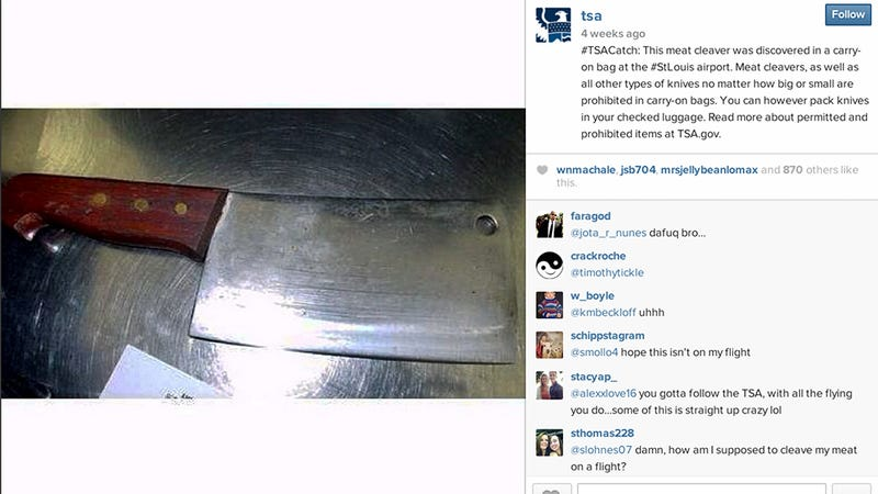 The TSA's Instagram Feed Is Hilarious and Informative