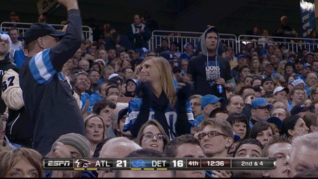 Megatron Breaks The Record And Lions Fans Aren't Sure How To Feel: Saturday Night Football, In Four GIFs