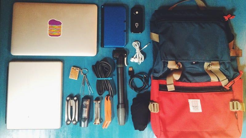 The Biking Blogger's Go Bag