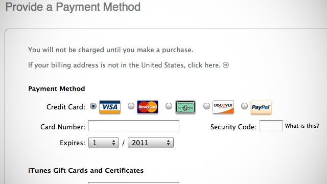 Create an Apple ID in iTunes Account Without a Credit Card