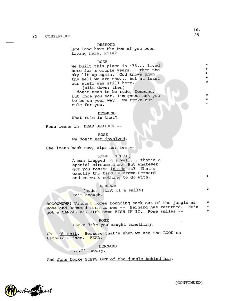 Lost Script Pages