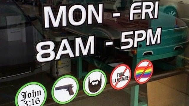 Kentucky Print Shop: God, Beards, Guns A-Okay, Gays Unwelcome