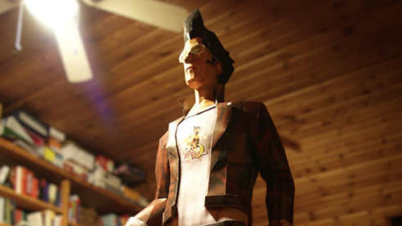 No More Heroes As A Heroic, Life-Sized Paper Craft