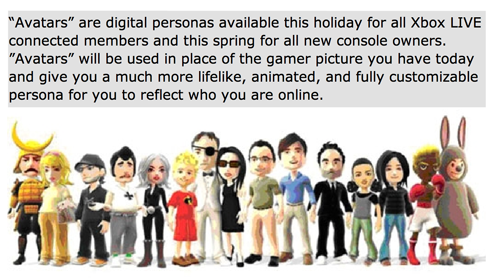 Xbox 360's Rumored Avatars Might Be Their Nintendo Miis