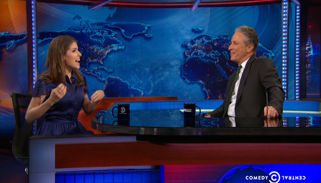 Anna Kendrick and Jon Stewart Delight Each Other On The Daily Show