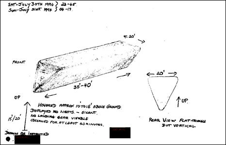 "British Government Declassifies Its UFO Files, Reveals ""Flying Toblerone"" Sightings"