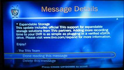 Another Tivo Update Brings Official eSata Support and Better Amazon Unbox Downloads
