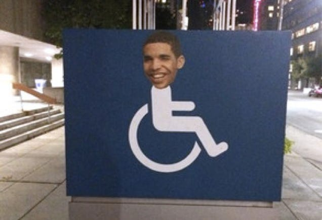 Drake's Head Is Appearing on Wheelchair Signs All Over Toronto