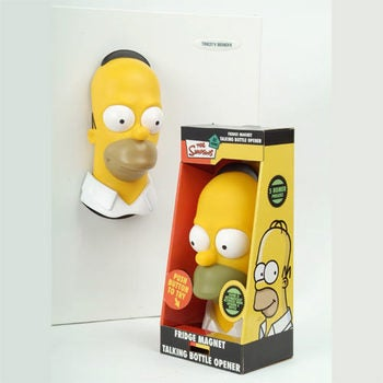 Unlike TV Counterpart, Homer Fridge Magnet Says Just One Funny Thing