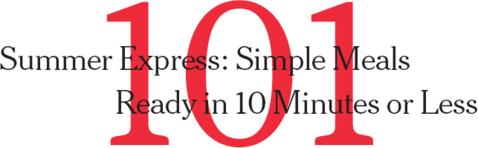 101 ten minute meals