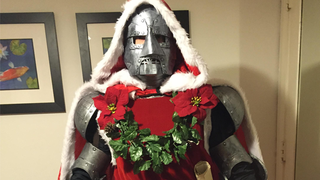 Santa Doom Is Here To Spread Festive Cheer IN ALL CAPS