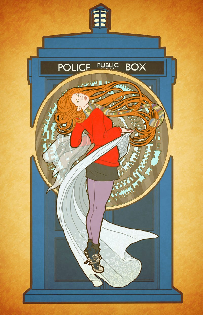 Doctor Who's Amy Pond goes gorgeously Art Nouveau!