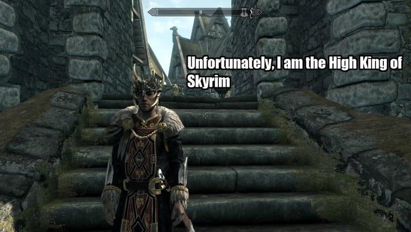 Okay, Maybe The High King of Skyrim Can Be A Nice Guy. Sorta.