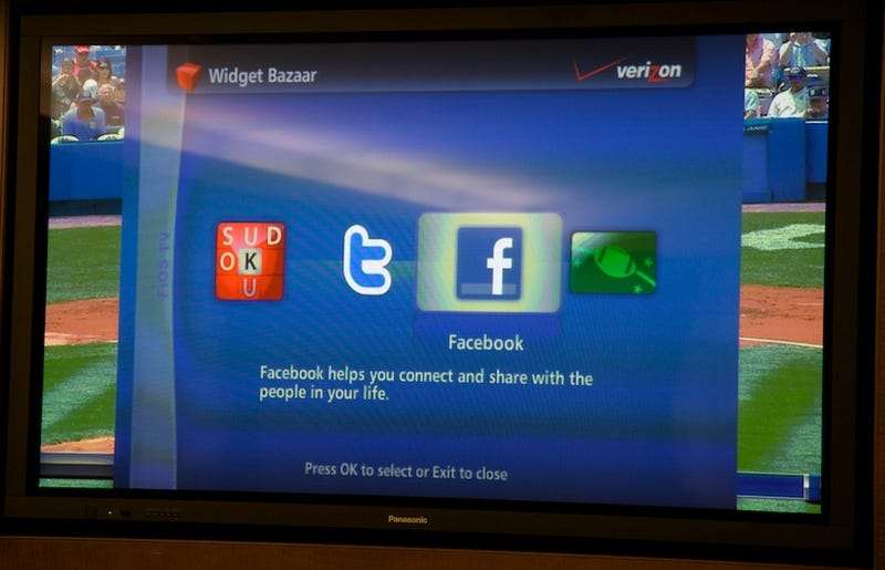 Verizon FiOS's Widget Bazaar Opens Tonight: Twitter and Facebook on Your TV
