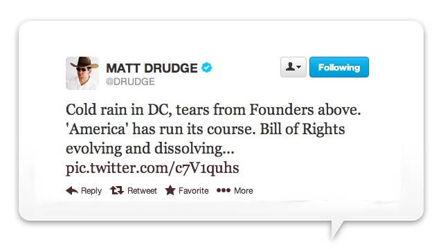 Matt Drudge Misunderstands Basic Meteorological Phenomenon