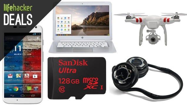 The Biggest MicroSD Card on Sale, 4G Chromebook, $5 Amazon Credit