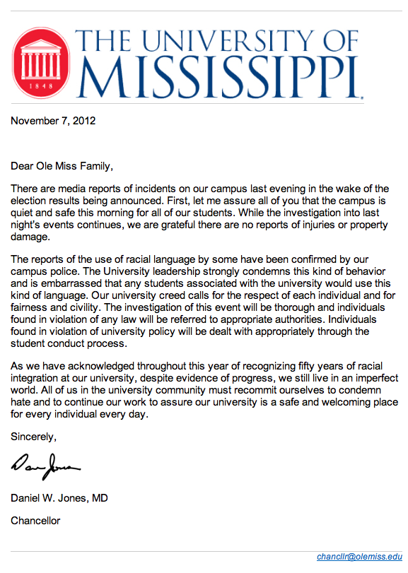 Ole Miss Students Are None Too Pleased About Our Black President
