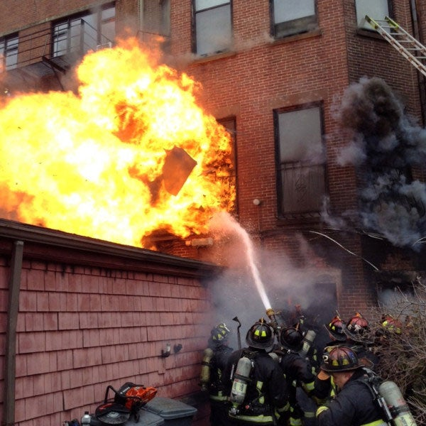 17 Injured As High Winds Fuel 9-Alarm Fire in Boston