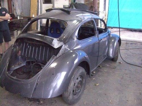 Chopped Volkswagen Beetle Prepares For 2010 24 Hours of LeMons Season