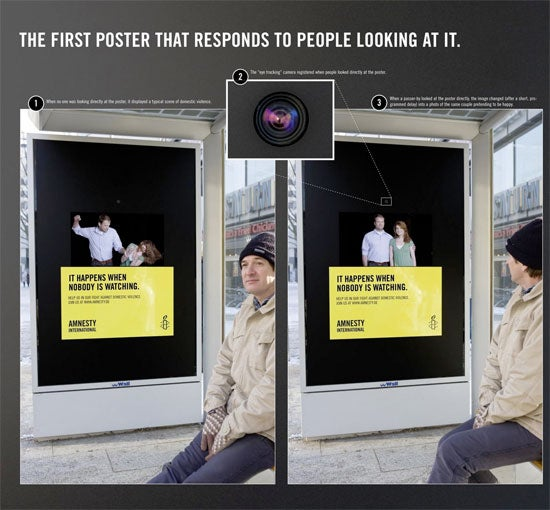 Pay Attention To This Bus Stop Ad Or It'll Beat This Woman