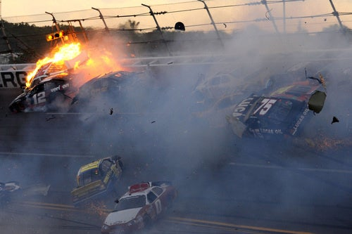 NASCAR Setzer Explosion