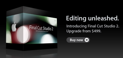 Apple Store is Back, Now with Final Cut Studio 2