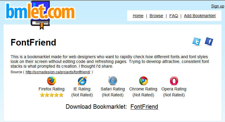 Bookmarklet Directory Aggregates New and Popular Bookmarklets