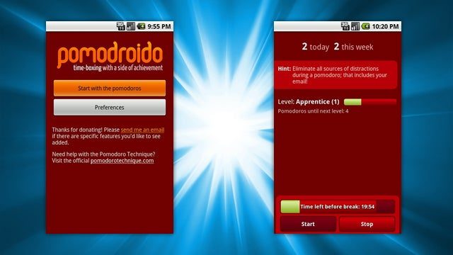 Pomodroido Is an Elegant Pomodoro Timer for Your Android Phone