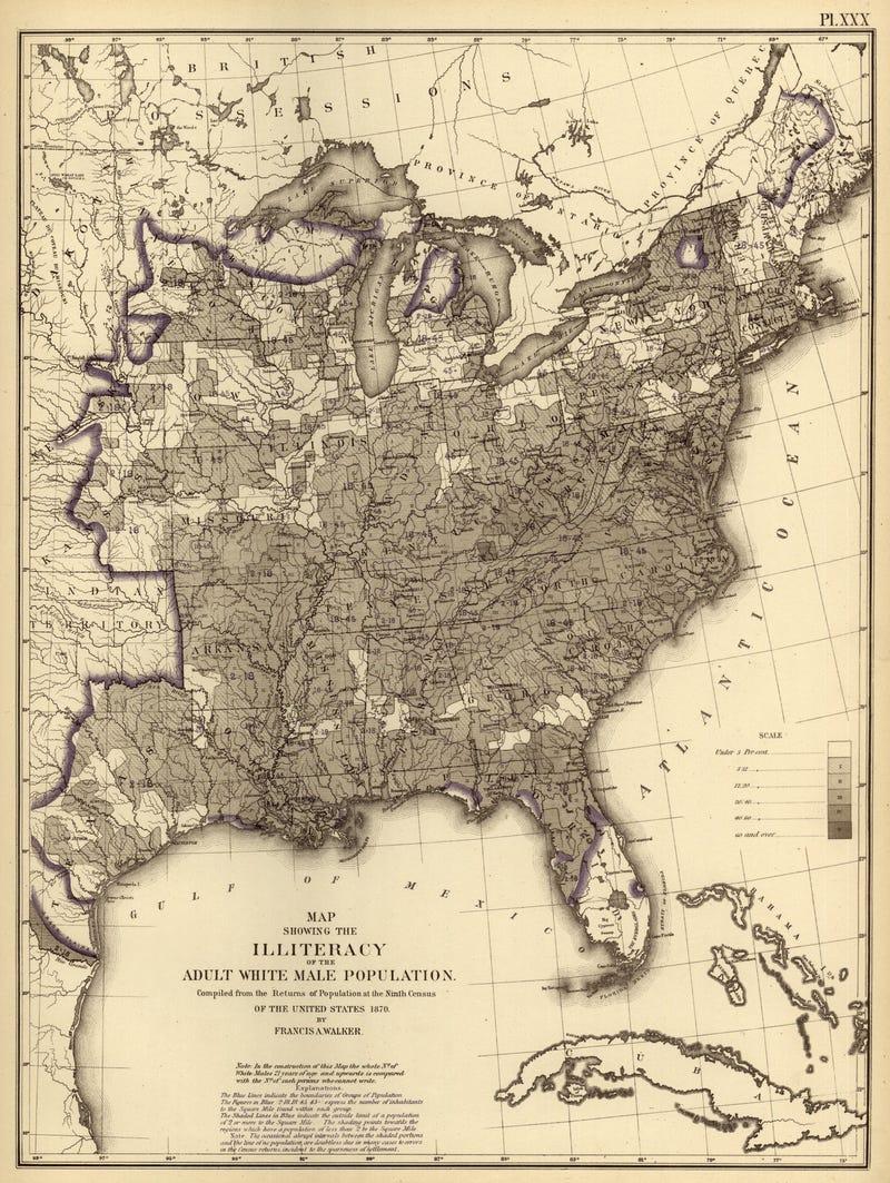 Beautiful, hi-res census maps provide fascinating snapshots of 1870s America