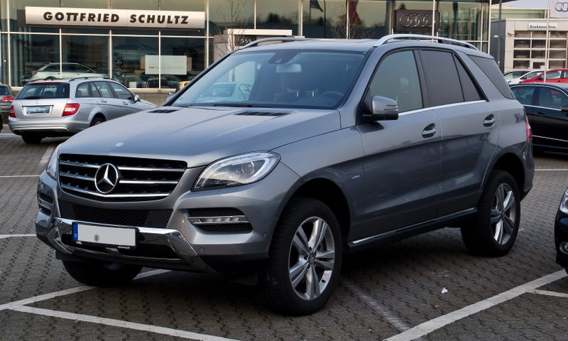 "Mercedes changes name of SUV from ""M"" class to ""GLE"" class."