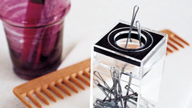Use a Paper Clip Holder to Dispense Bobby Pins