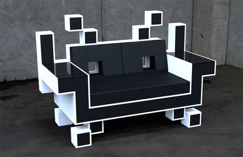 Space Invaders Make For A Cute, Uncomfortable Seating Option