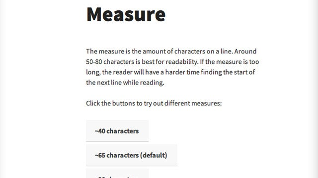 The Interactive Guide to Blog Typography Teaches You How to Improve Your Site's Readability