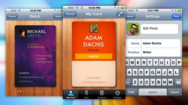 CardFlick Creates and Sends Digital Business Cards from Your iPhone