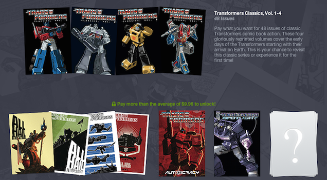 Deals: Twin Peaks: The Entire Mystery, Transformers Comics, PS
