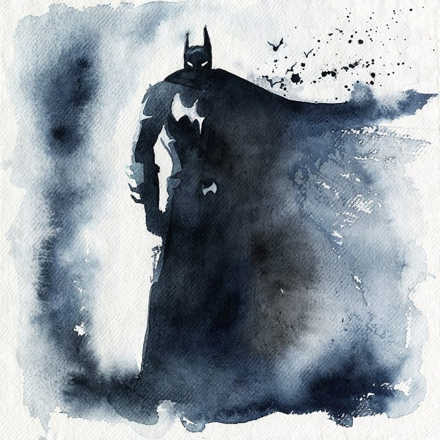 These Watercolors Distill Superheroes to Their Very Essence