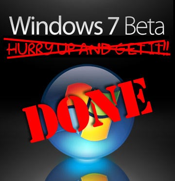 Windows 7 Free Beta Sign-Up Is OVER