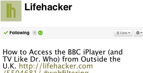 Follow Lifehacker on Twitter, Be Our Facebook Fan