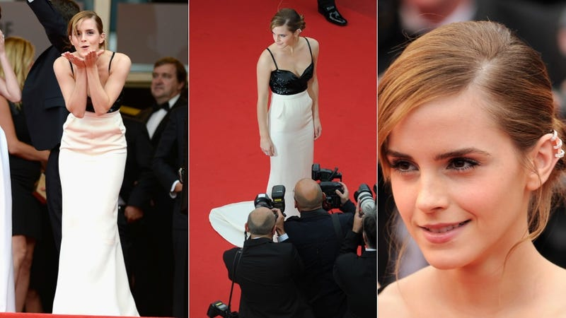 Emma Watson Wore Blingy Earrings to the Bling Ring Premiere
