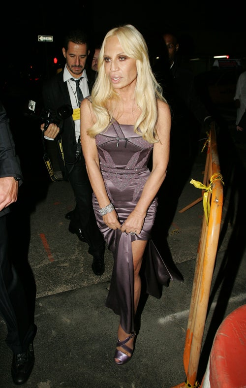 Donatella Versace Gets A Hold Of Herself