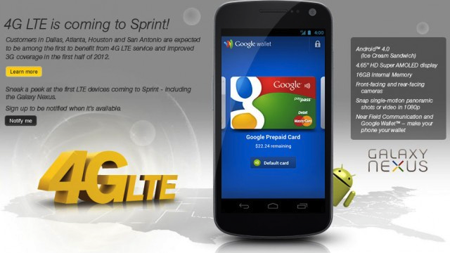 Samsung Galaxy Nexus Is On Its Way to Sprint