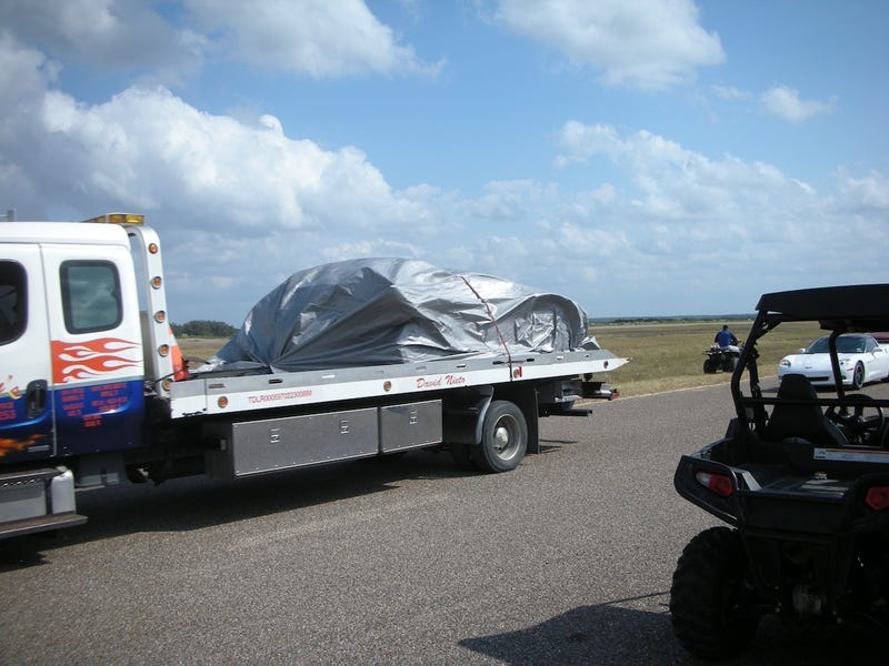 Twin Turbo Lamborghini Crashes, Flips At Texas Mile
