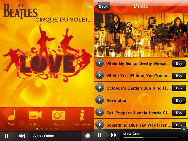 The Beatles LOVE a Good iPhone App