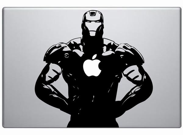 Iron Man Decal Powered by Apple Arc Reactor