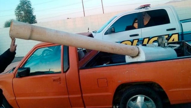 This Makeshift Cannon Was Used to Fire Marijuana Packets Across the Mexicali Border